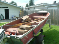 14 ft boat and motor,trailer.