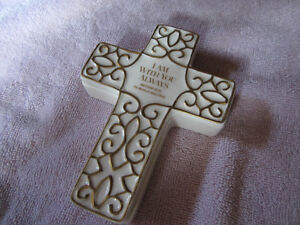 Franklin Mint Porcelain Cross