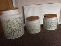 Hornsea flour storage pots