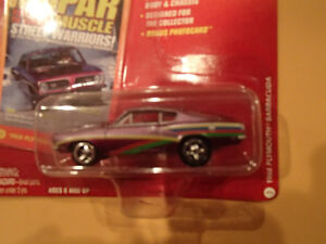 JOHNNY LIGHTNING - MOPAR MUSCLE - 1968 PLYMOUTH BARRACUDA Sarnia Sarnia Area image 3