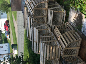 Hand crafted lobster traps, $15.00