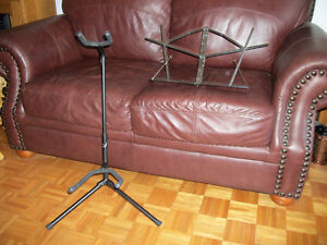 support de guitare et lutrin de table