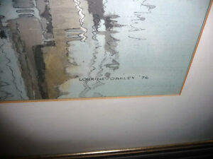 "Loraine Oakley ""Quartette"" 1976 Original Mixed Media Painting Stratford Kitchener Area image 7"