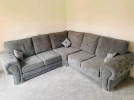 5 Seater Verona Corner Sofa With Full Back Cushions