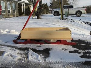 HOMEMADE HAND PULLED SLEIGH