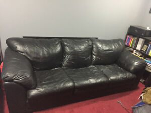 Black 3-seat couch