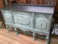 ANTIQUE SIDEBOARD REFINISHED ASPIRE CHALK PAINT STUNNING