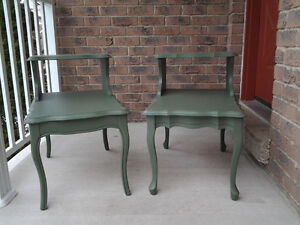 Two old end tables.