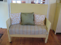 Painted Wooden Bench with High Back $200.00