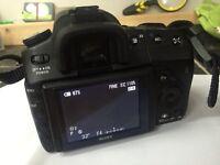 Sony alpha A300 digital DSLR camera changeable lens 10 megapixel