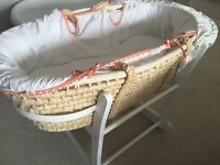 John Lewis Moses Basket and rocker