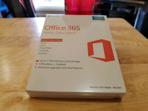 **New** Office 365 Home Subscription.