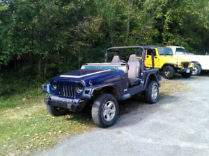 Parting out Jeep TJ