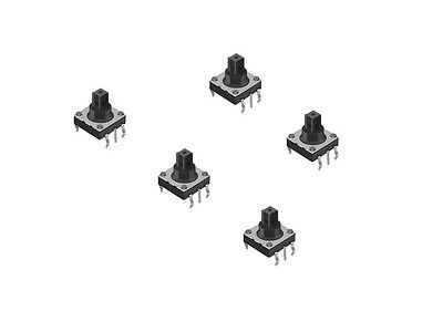 5pcs 10x10mm 6pin 5 Way Momentary Pushbutton Tactile Switch S455