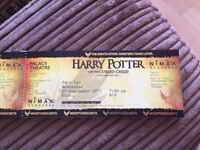 Harry Potter & the cursed child tickets part 1 & part 2 STALLS