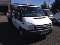 Ford Transit 2.2TDCi d/cab tipper 2013 13 reg