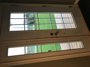 White Steel Door with Sidelight - Great Condition!