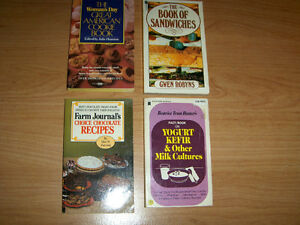 4 VINTAGE POCKETBOOK COOK BOOKS-WOMAN'S DAY-FARM JOURNAL+