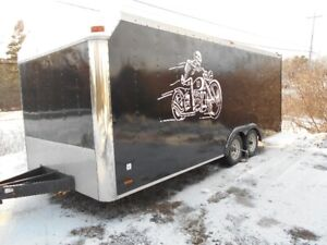 20 foot  pace American enclosed car trailer tows real nice