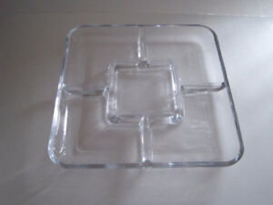 Clearing out! thick glass serving trays, thick glass beer mugs