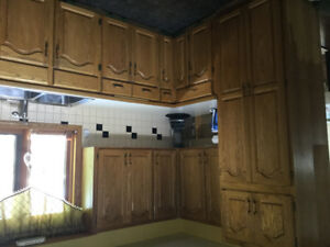 Oak Kitchen Cabinets for sale - PRICE DROP