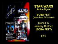 RARE Autographed STAR WARS Action Figure BOBA FETT