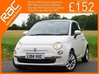 2014 Fiat 500 1.2 Lounge 5 Speed Sunroof Bluetooth Air Con Only 7,000 Miles Full