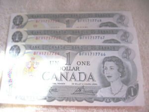 SPECIAL  BANK OF CANADA 1973 $1 ONE DOLLAR BILLS