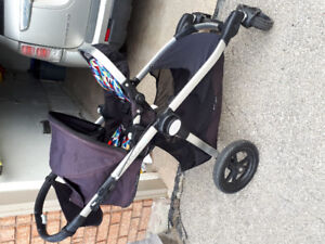 2011 Onyx City Select Single Stroller with Bassinet $400/OBO