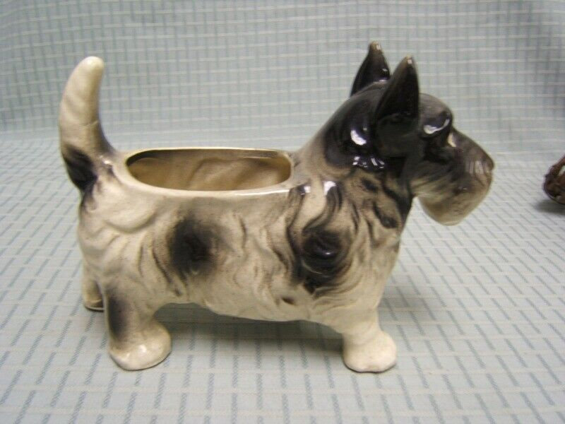 Vintage Pottery Scottish Terrier Dog Planter Made in Japan GUC