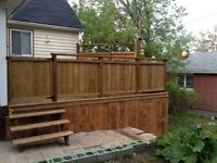 Decks and fencing, construction and refinishing!