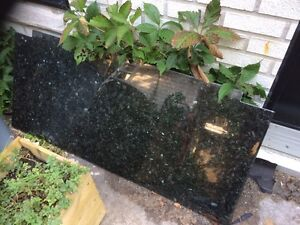 Black marble  slab, 24 by 53 inches