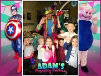 Kids Children's THEMED PARTY Entertainer Hire Ideas Theme North South East West London Games SURREY