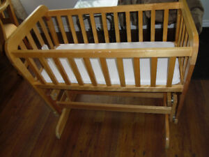All wood glider cradle