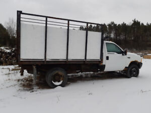Ford F450 dump truck, used for delivering firewood