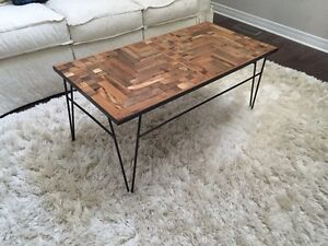 Mosaic Reclaimed Barn Wood Coffee Table