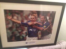 Signed Rangers photo