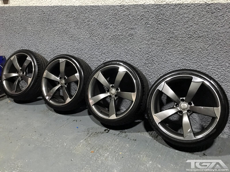 20 Inch Audi Black Edition Style TTRS Alloy Wheels and Tyres - Alloy