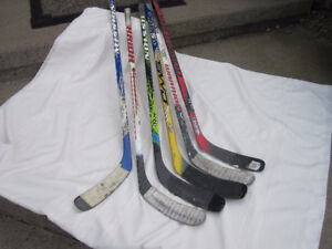 Hockey Sticks Left and Right Hand Junior Size - Six Available