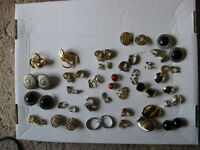 CLIP ON EARRINGS - LOT OF 30 PAIRS.