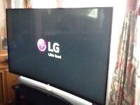 "LG 55"" UHD smart curved screen TV"