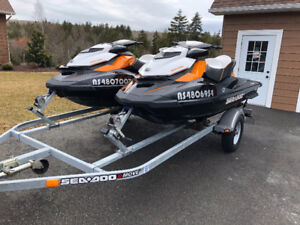 SET OF SEADOO GTR 215 WITH TRAILER
