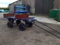 Dray/wagon/cart/trolley/4 wheel vehicle/horse