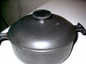cast iron pan with lid