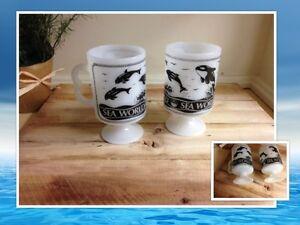 Deux Tasses sur pied collection Sea World  #167