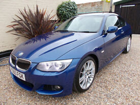 BMW 325 DIESEL M-SPORT COUPE 6 SPEED MANUAL FSH FULL LEATHER LE MANS BLUE