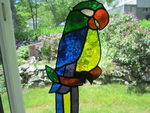 Stained Glass Parrot