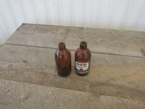antique stubby bottles