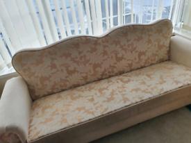 Damask Sofa Bed Settee