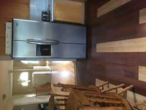 Fridge and Stove set. Stainless steel